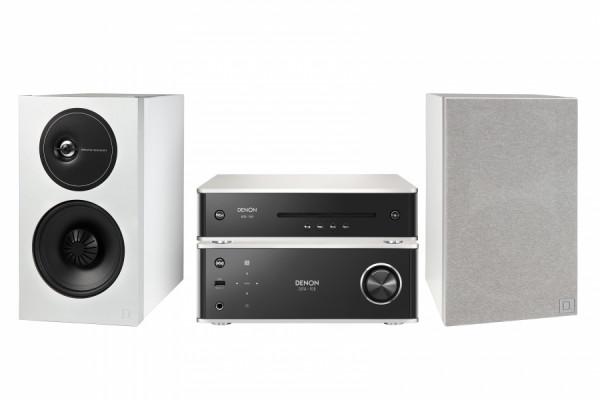 Denon DRA-100 + DCD-100 + Demand D11 Premium-Silber/Weiß