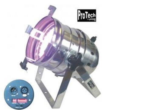 ProTech PAR 64 RGB 432 LEDs MKII Floorspot silber/schwarz